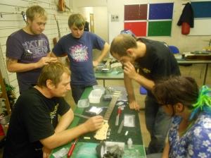 Guitar repair workshop