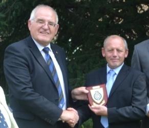 Mark receives his award
