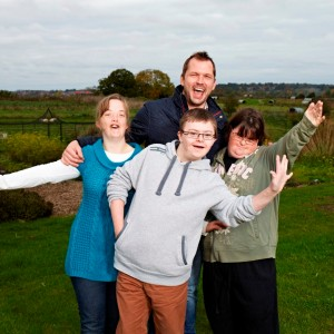 Jimmy Doherty with young people featured in Secret Millions