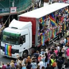 Revelers enjoy last year's Cardiff-Wales LGBT Mardi Gras which promises to be bigger and better this year.