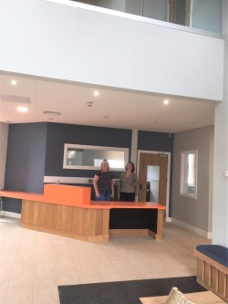 Reception at Gellideg wellbeing centre