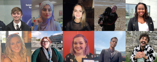 10 members of the Young People in the Lead Wales advisory panel