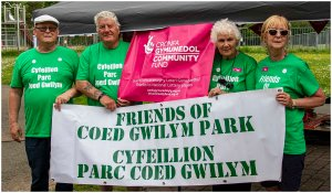 Friends of Coed Gwilym Park - people celebrating