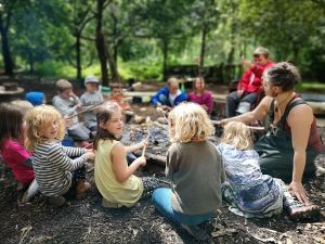 A group of kids outdoors